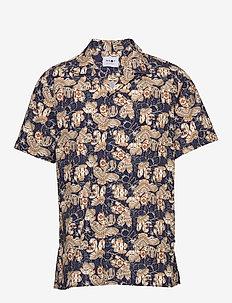 Miyagi Short 5133 - overhemden korte mouwen - navy print