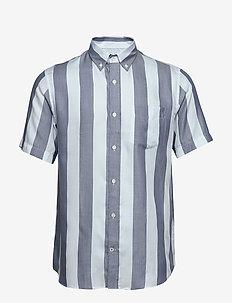Tyrion Short 5164 - kortermede skjorter - navy stripe
