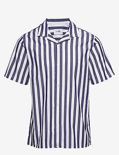 Miyagi Short 5203 - chemises à manches courtes - navy stripe