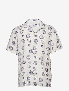 Miyagi Short 5210 - kortärmade skjortor - white print