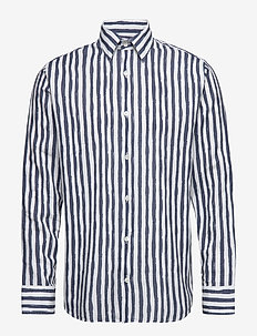 Errico Shirt 5212 - casual - navy stripe