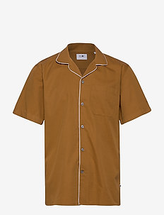 Paris SS Shirt 5214 - peruspaitoja - canela brown