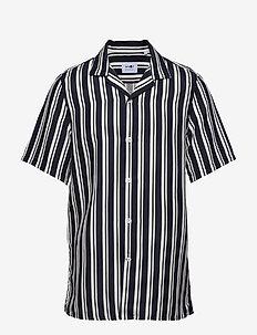 Miyagi 5036 - linneskjortor - navy stripe