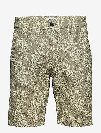 Crown Shorts 1382 - casual shorts - green print