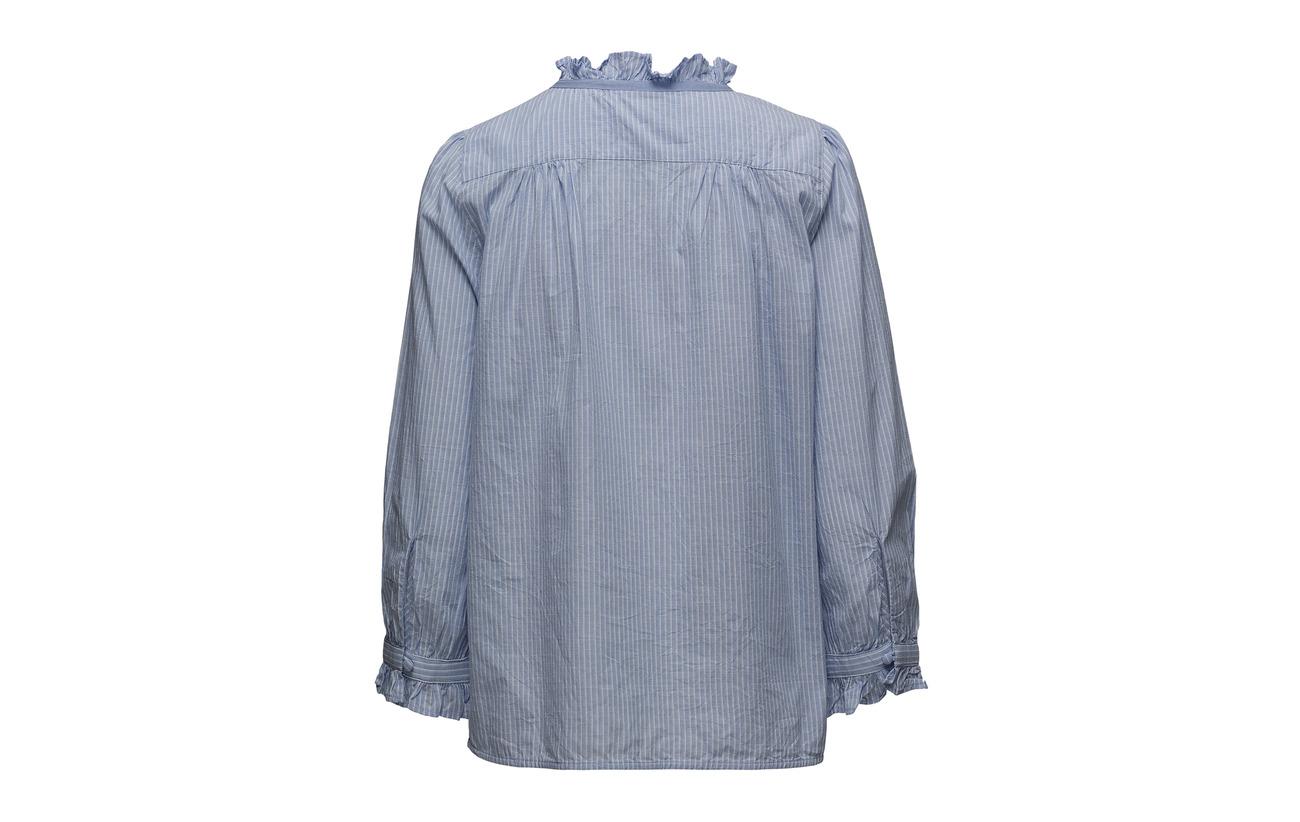 Blouse Coton Art Bio 100 Blue Noa Hxwda8qw