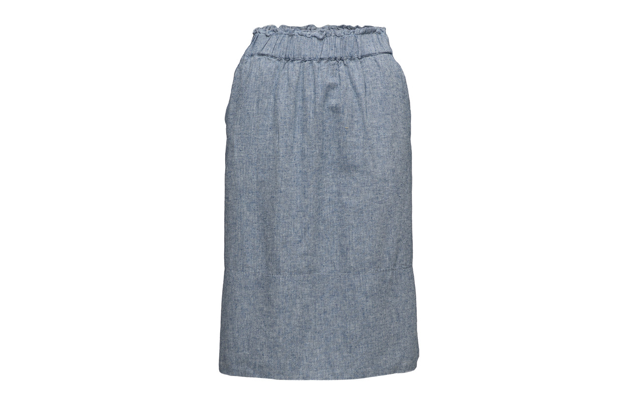Noa Blue Art Lin Coton 50 Skirt zrzcq4wH