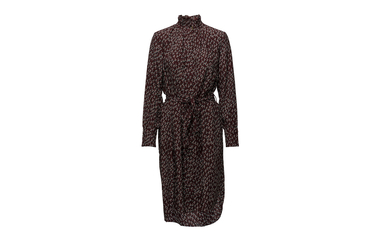 Noa Dress Red Long 100 Viscose Sleeve Print qT1pwqO