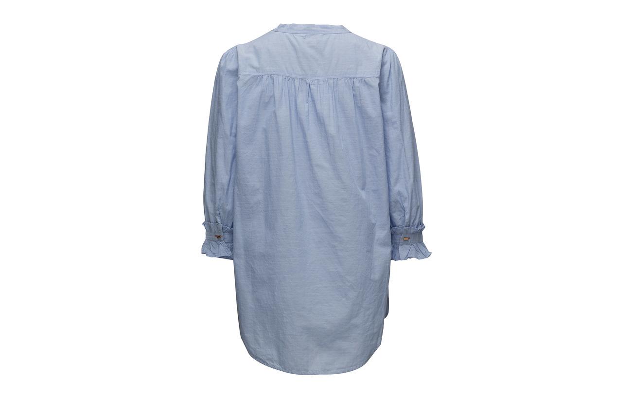 100 Organiccotton Heron Blue Noa Tunic RqYttw8I