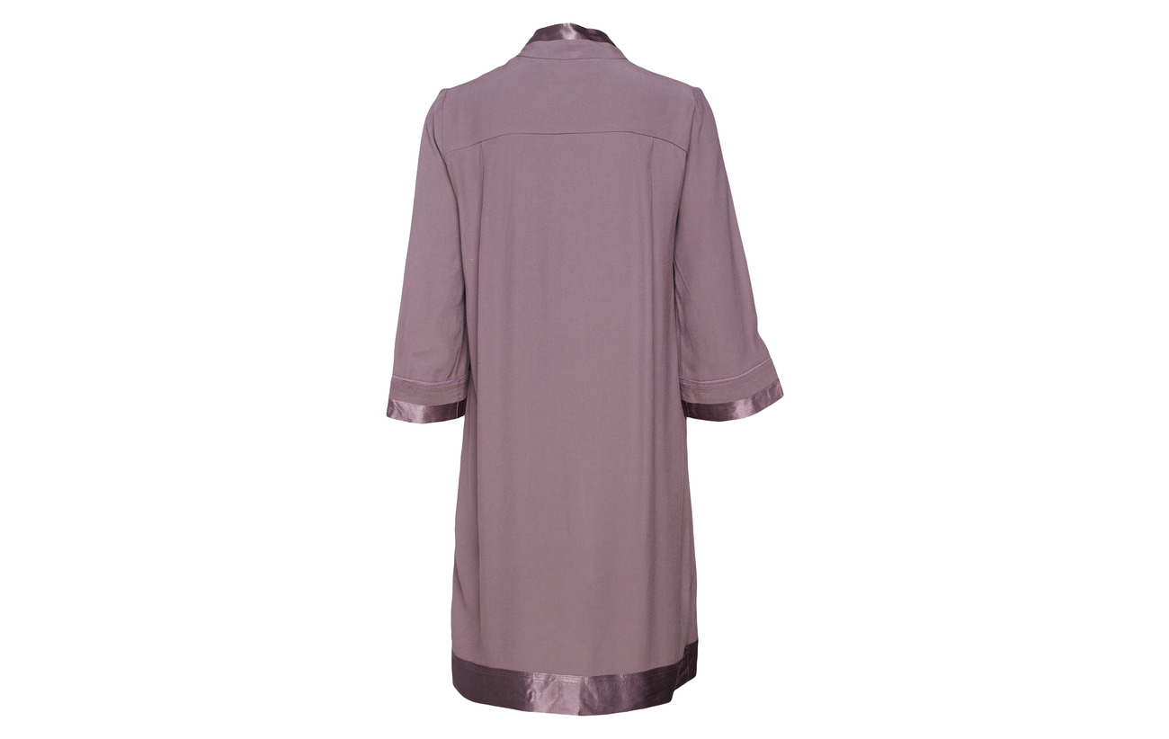 Black 100 Noa Dress Plum Short Viscose Sleeve wwq608t
