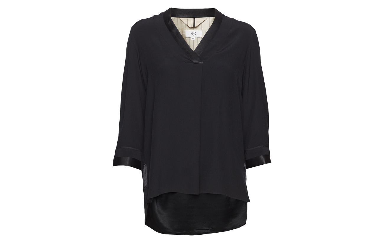 Viscose 100 Black Noa Blouse Plum nqvTx84