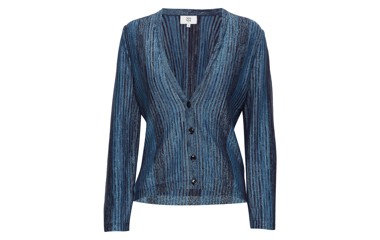 20 Lurex 6 Polyamide 30 Coton Viscose 44 Art Blue Noa Cardigan x78Fz0