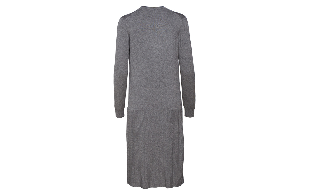 Long Dress Polyamide Grey Viscose Sleeve 20 Melange Dark Noa 80 HC6fww
