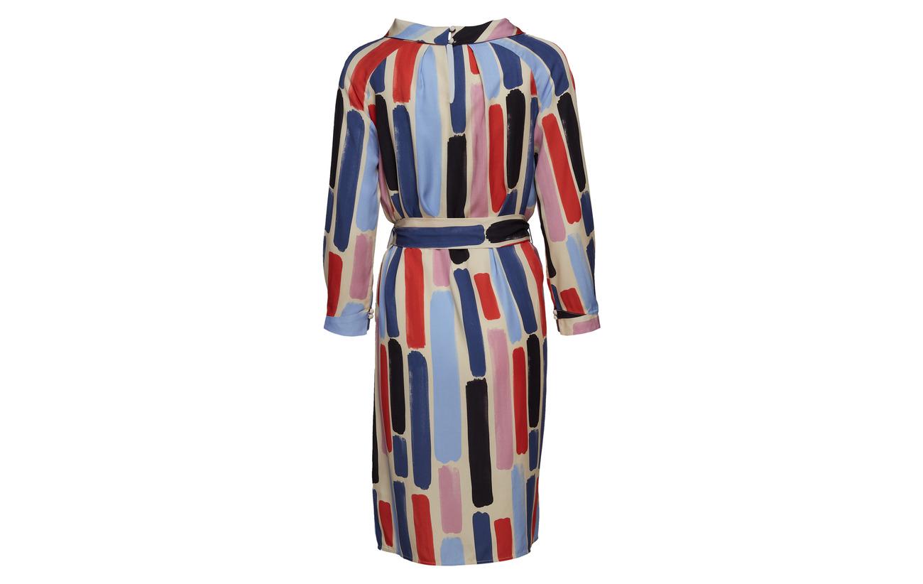 Blue Sleeve Long Noa Dress 100 Print Tencel xaqS1PC
