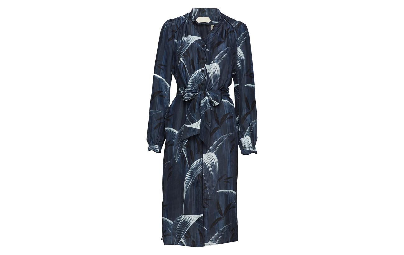 Long Soie Blue Noa Sleeve 100 Print Dress fnwxC5CqA