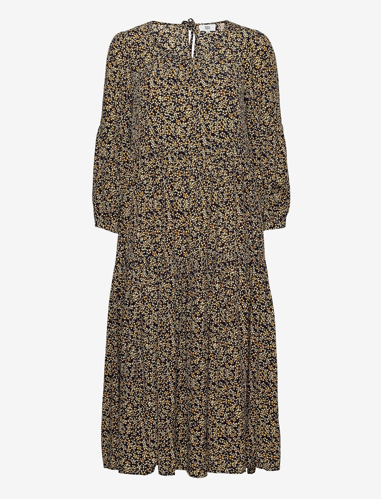 Noa Noa - Dress long sleeve - maxi jurken - print yellow - 0