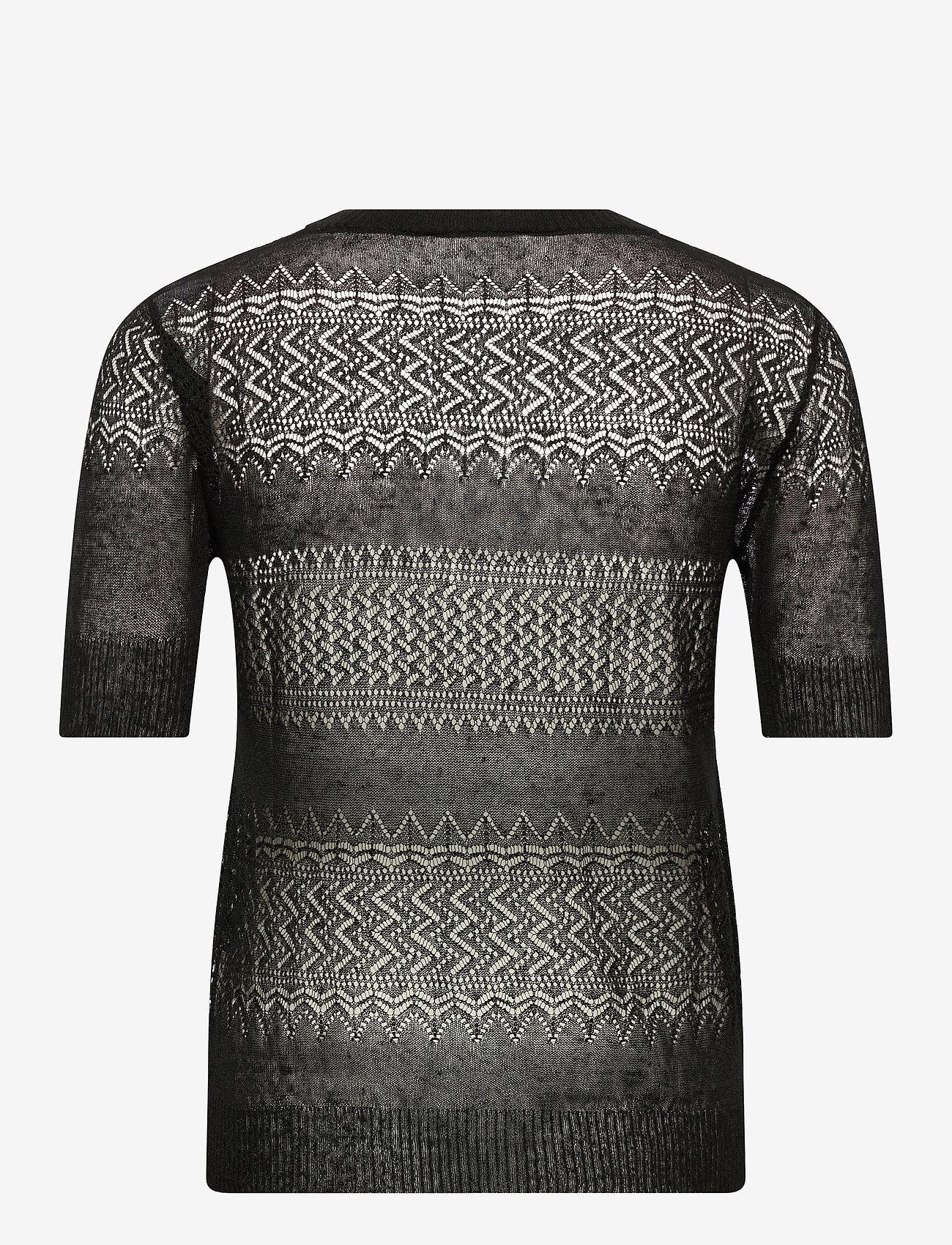 Noa Noa - Pullover - blouses med korte mouwen - black - 1