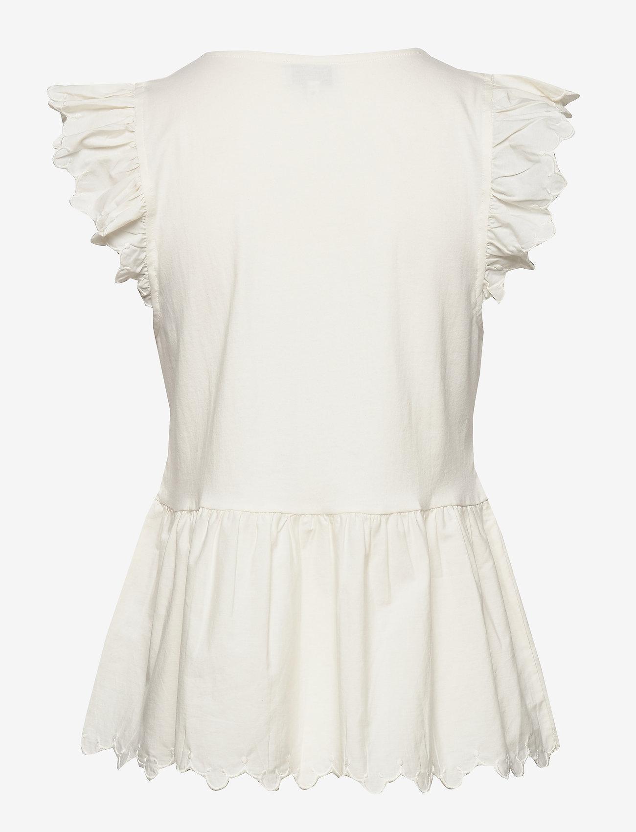 Noa Noa T-shirt - Bluzki & Koszule WHITE ASPARAGUS - Kobiety Odzież.