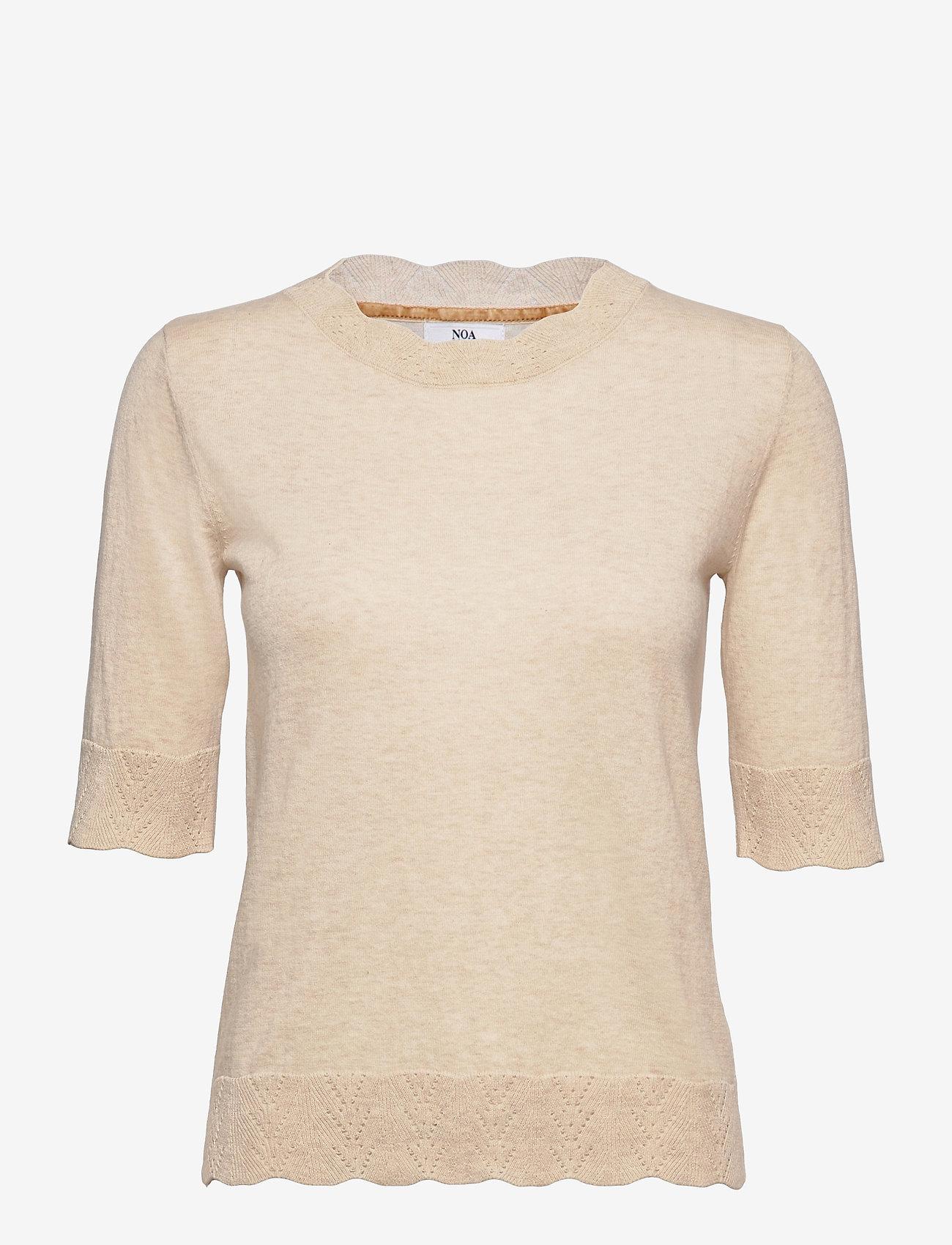 Noa Noa - Pullover - strikkede toppe - light brown melange - 0