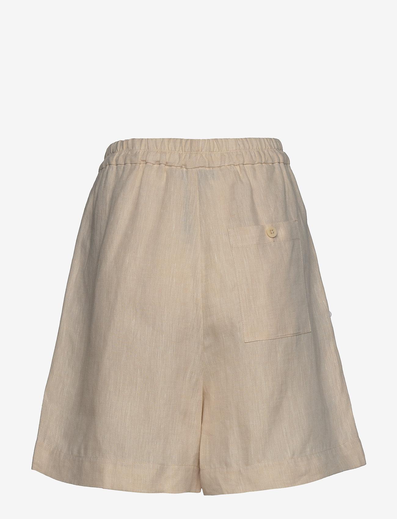 Noa Noa - Shorts - casual korte broeken - natural linen - 1