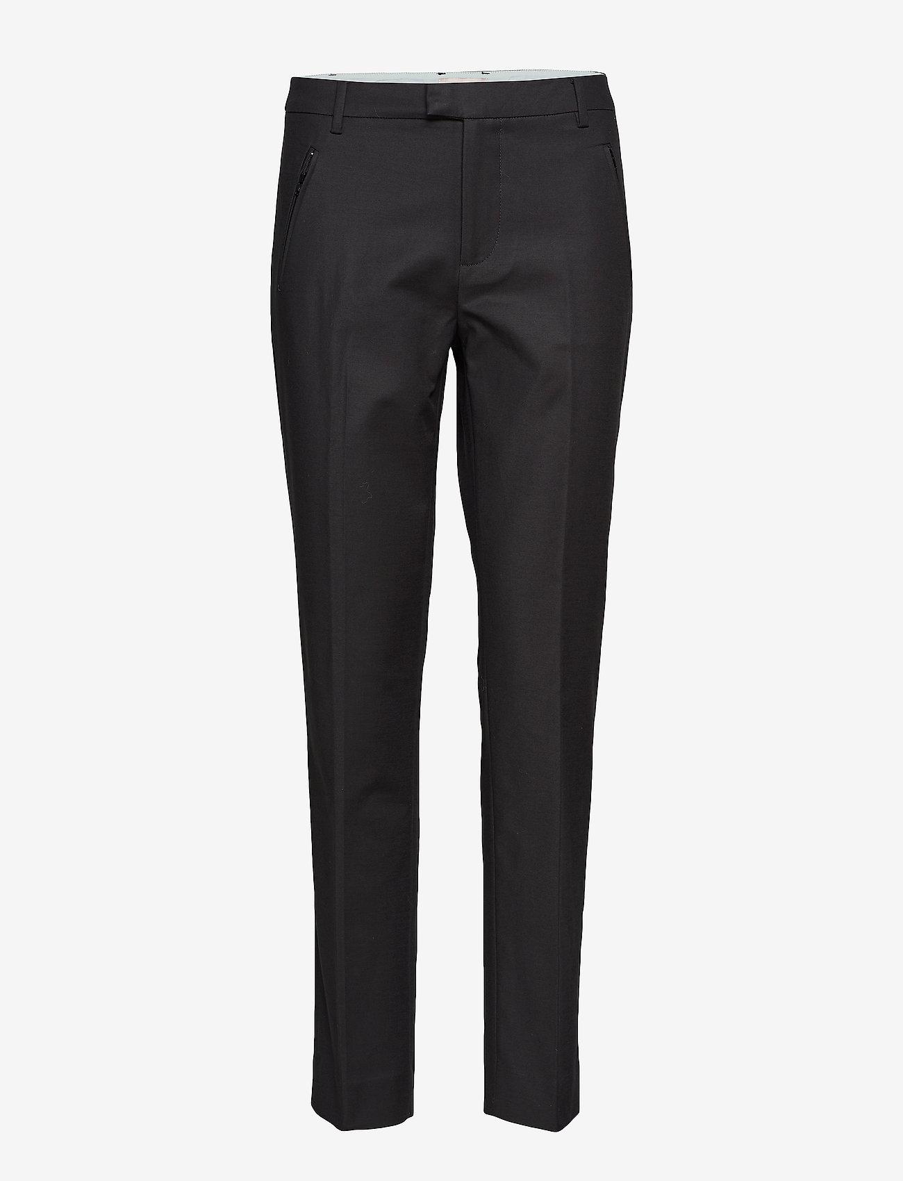 Noa Noa - Trousers - broeken med straight ben - black - 0