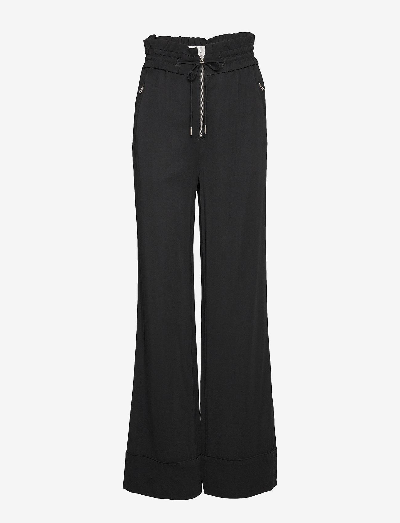 Noa Noa - Trousers - pantalons larges - black