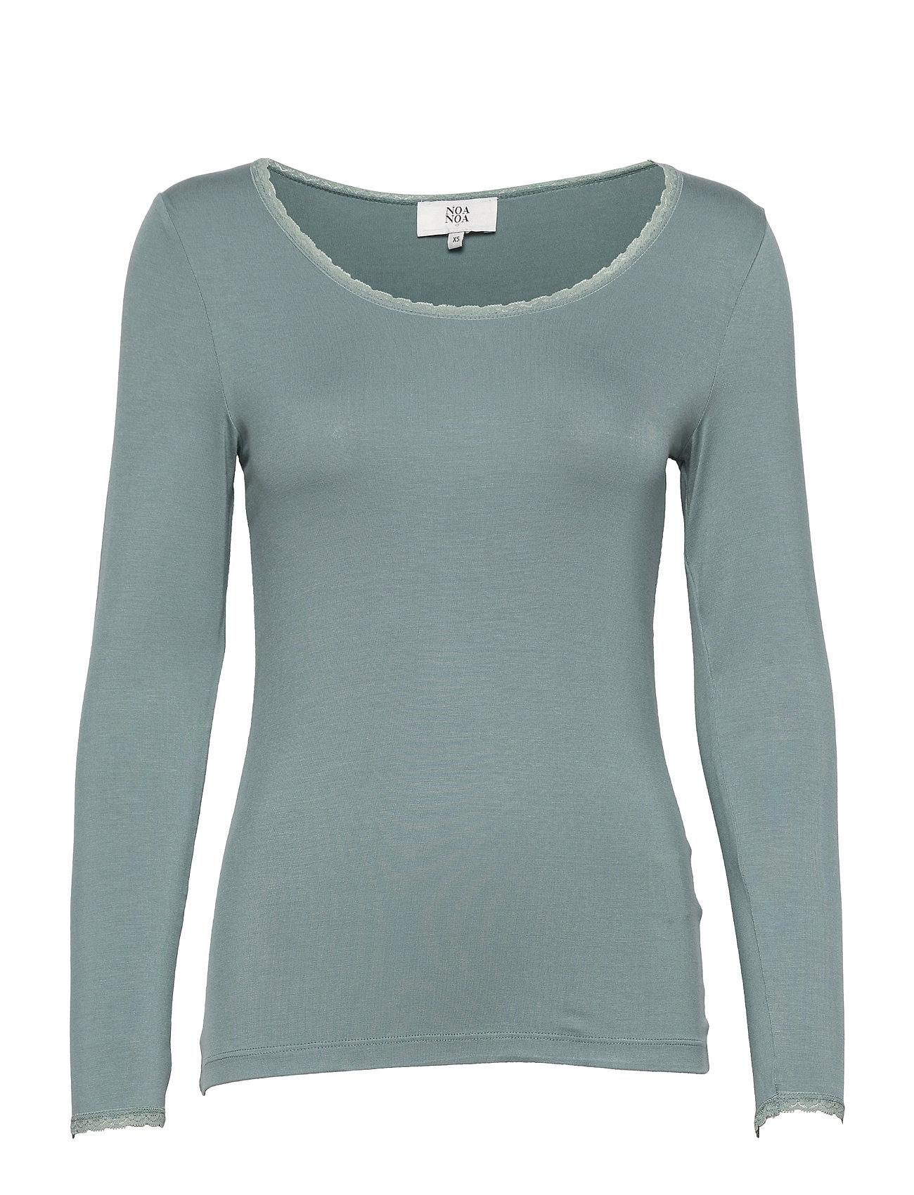 T-Shirt Langærmet T-shirt Blå Noa Noa