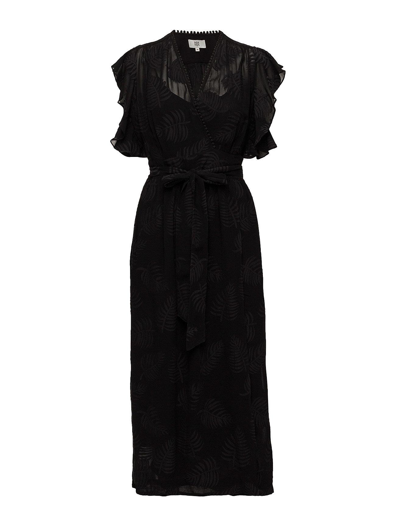 Noa Noa Dress short sleeve - BLACK