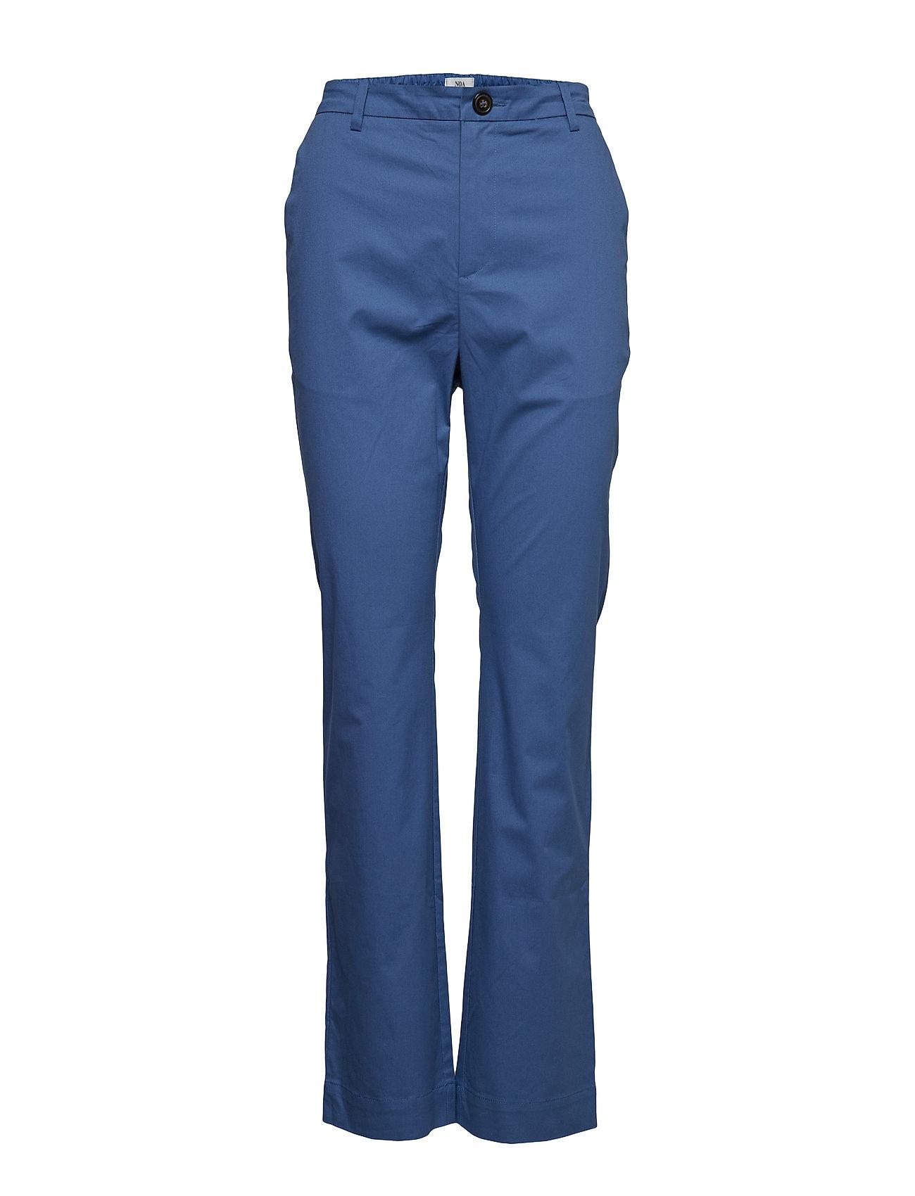 Trousers Bukser Med Lige Ben Blå Noa Noa
