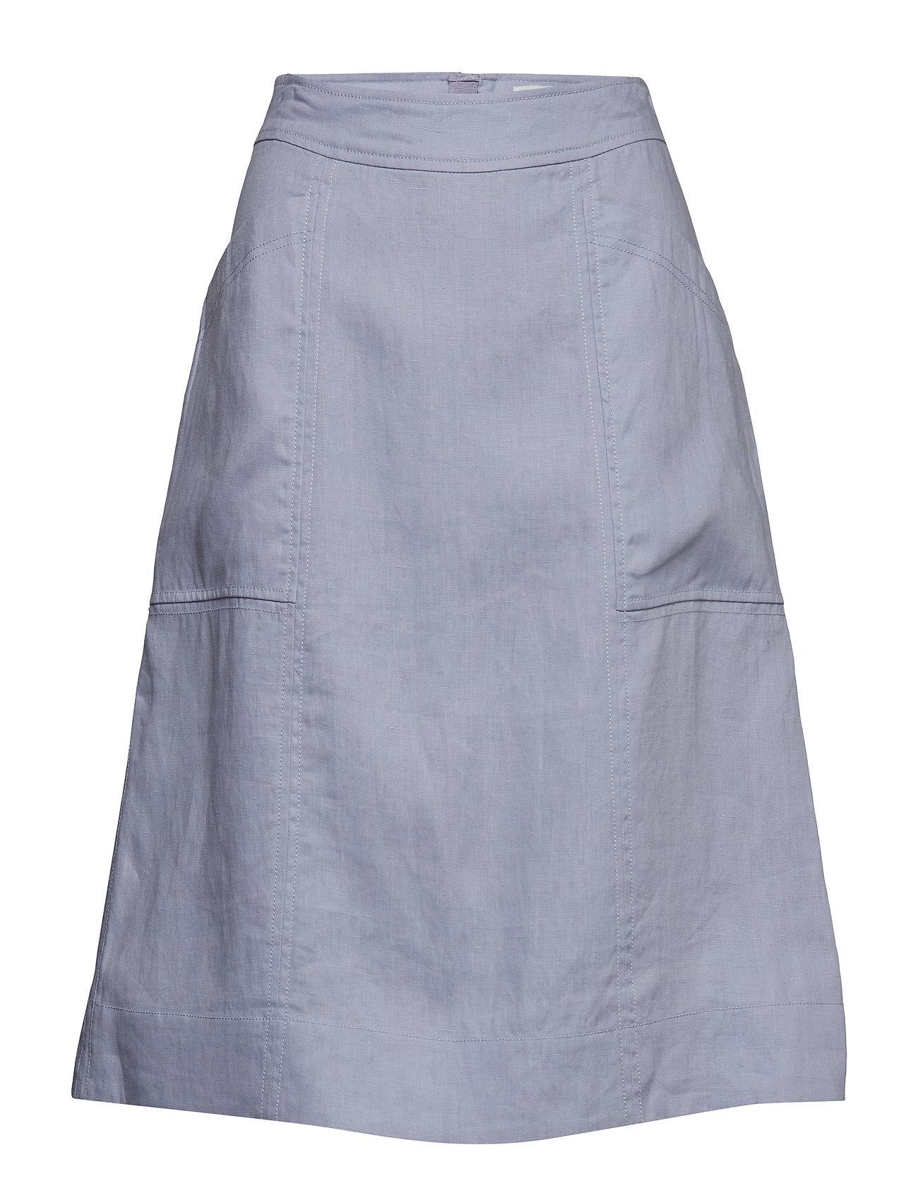 Skirt Knælang Nederdel Blå Noa Noa