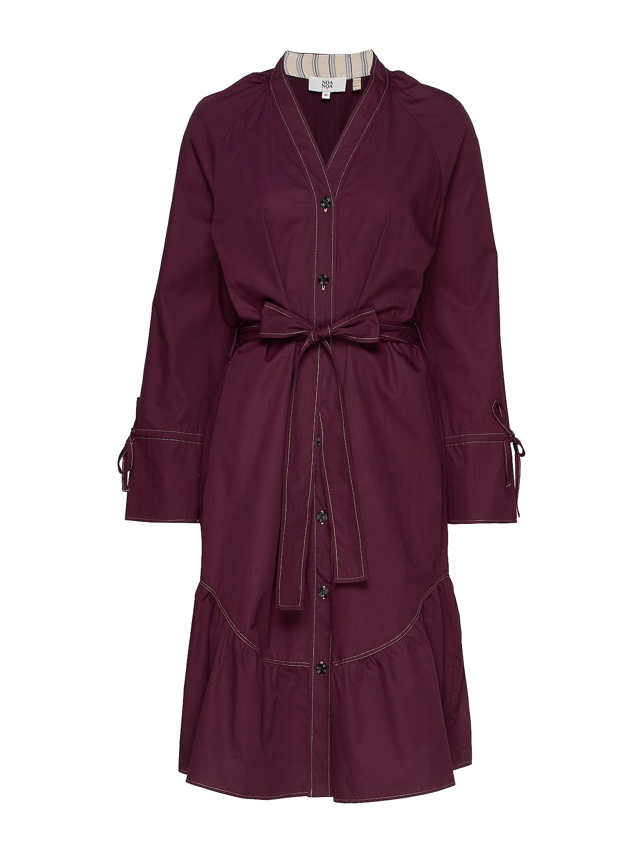 Noa Noa Dress long sleeve - FIG