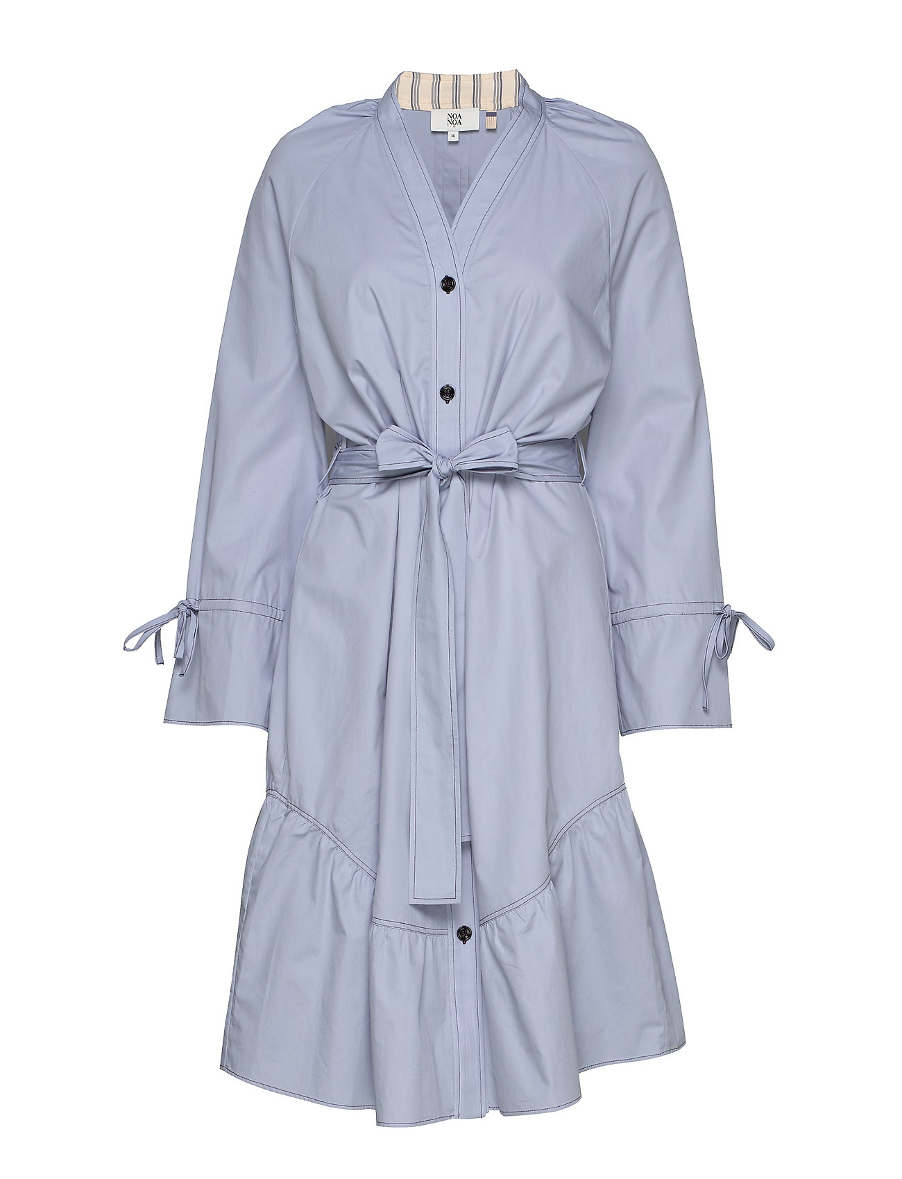 Noa Noa Dress long sleeve - ZEN BLUE