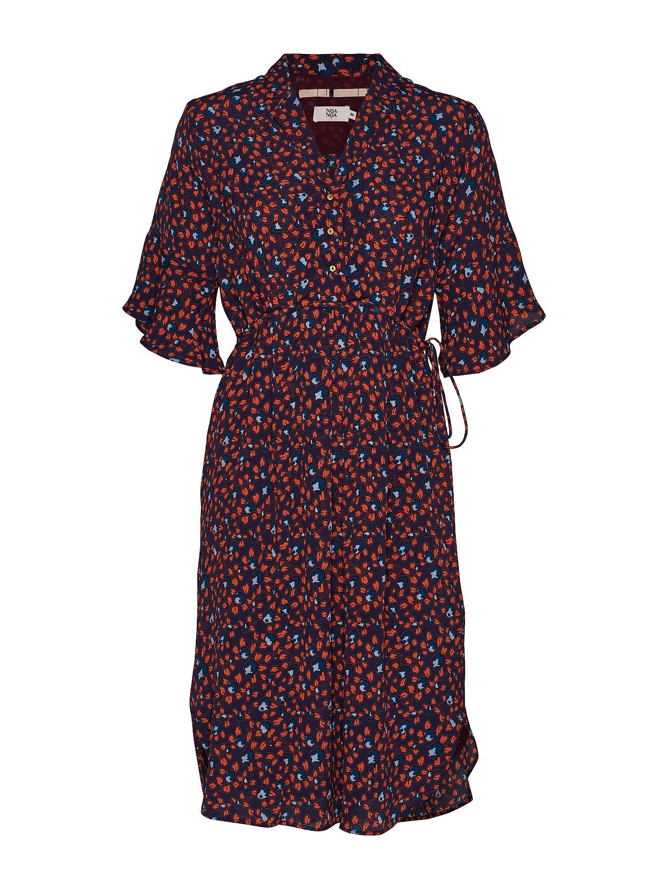 Noa Noa Dress short sleeve - PRINT BLUE