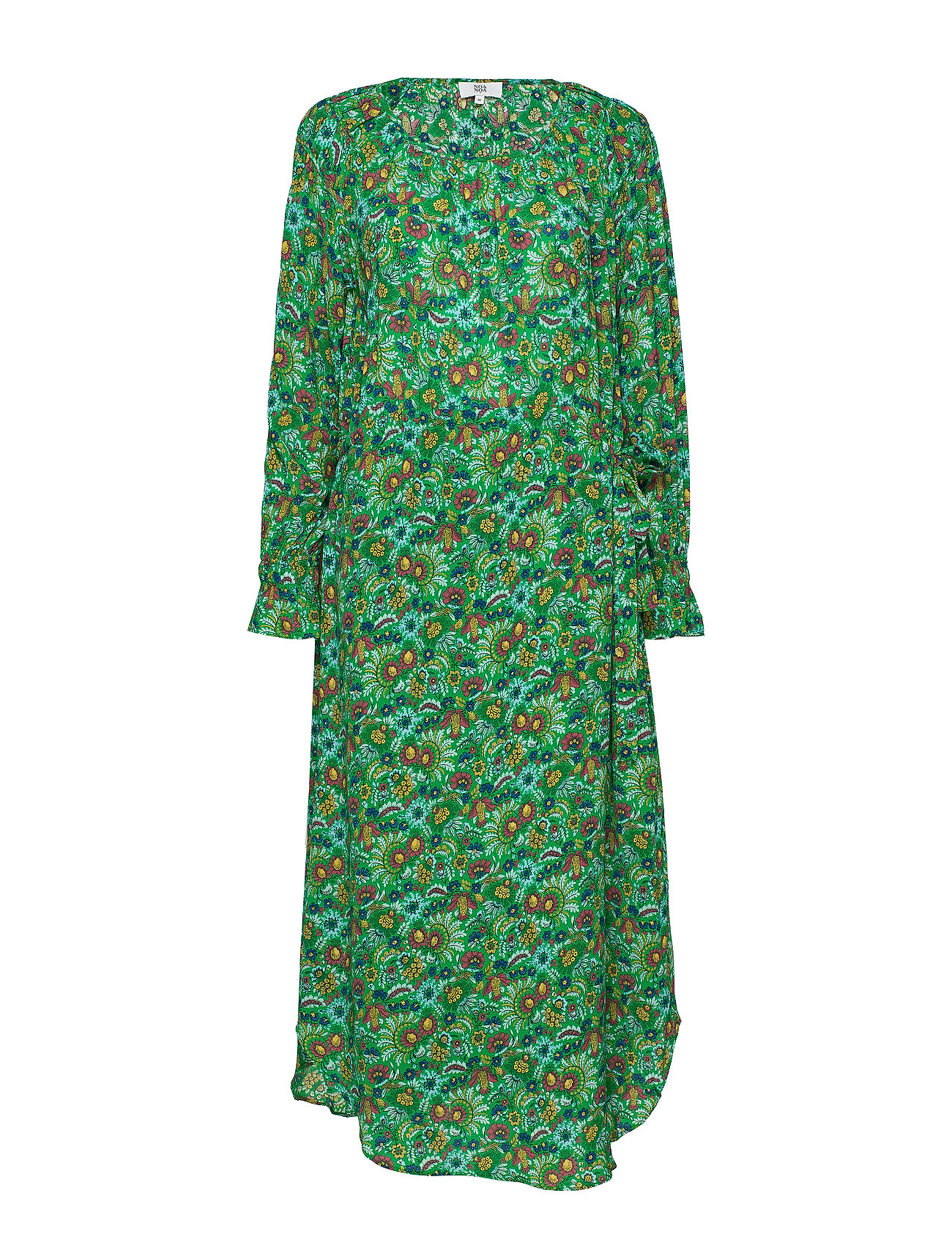 Noa Noa Dress long sleeve - PRINT GREEN