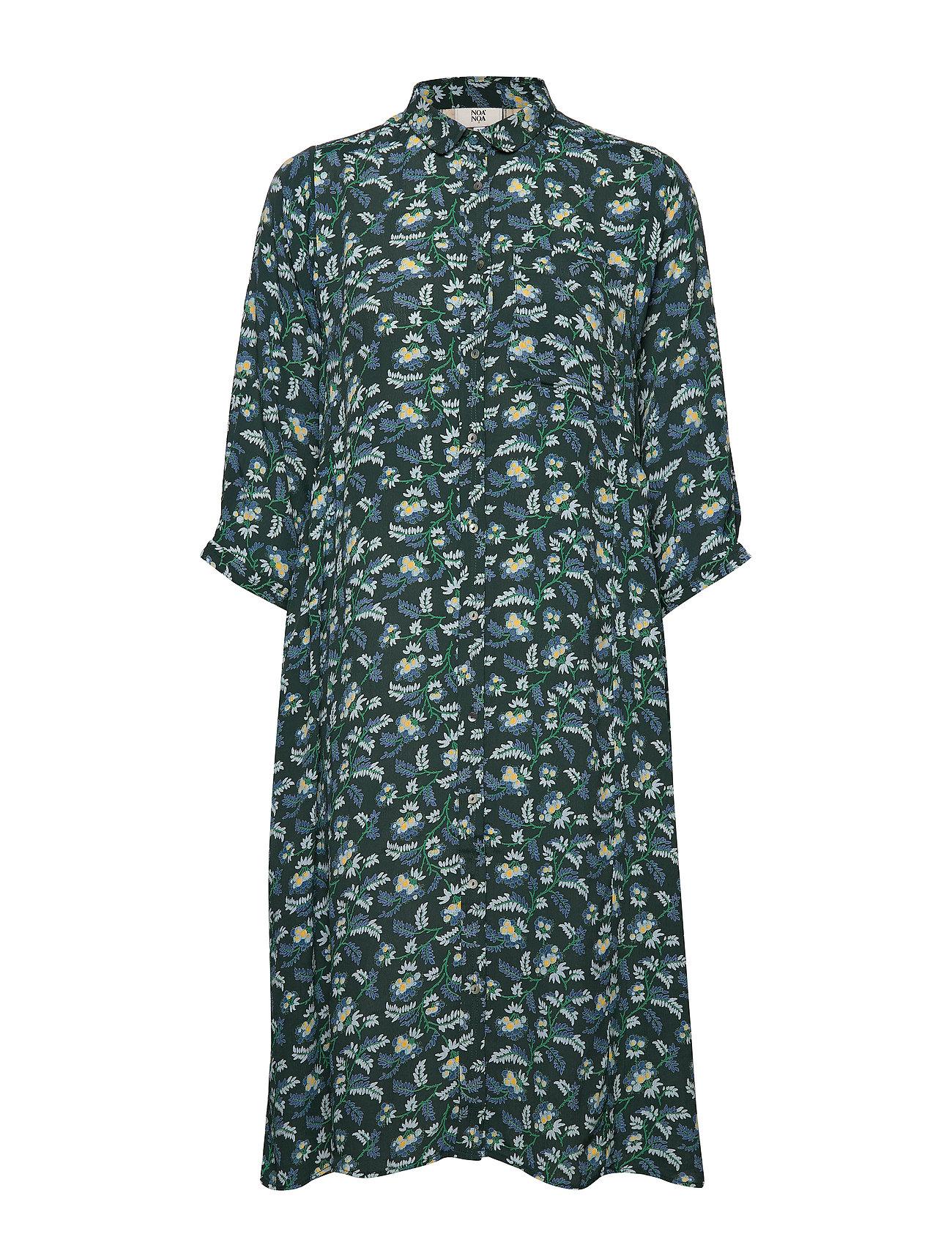 Noa Noa Dress short sleeve - PRINT GREEN