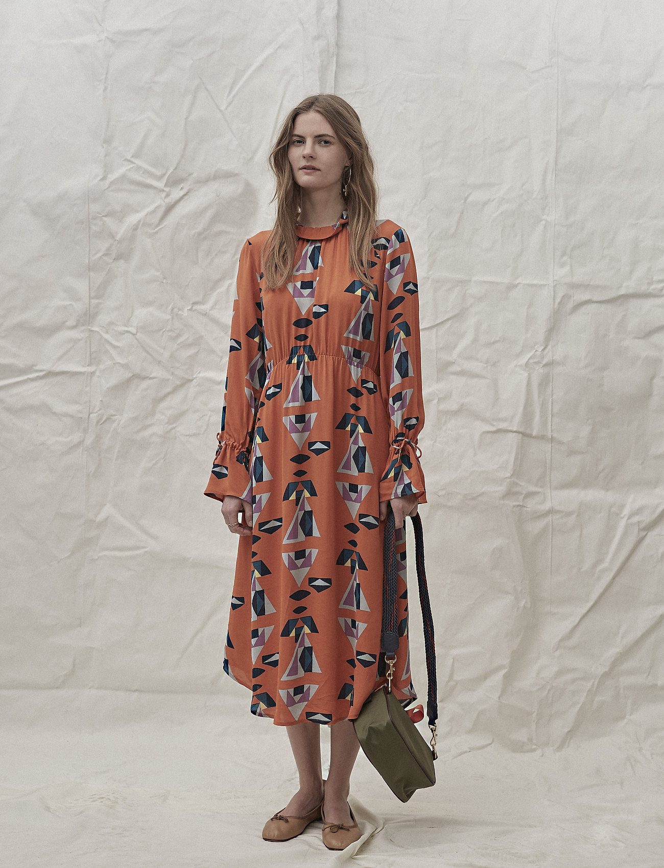 Noa Noa - Dress long sleeve - shirt dresses - print orange