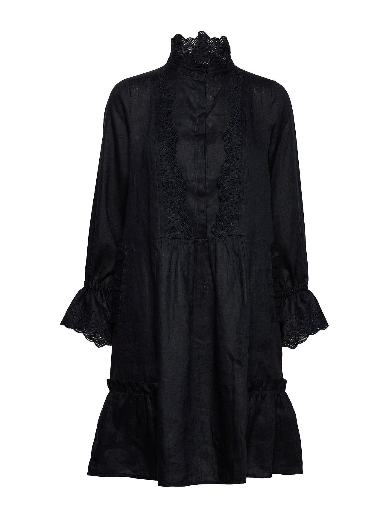 Noa Noa Dress long sleeve - DARK NAVY