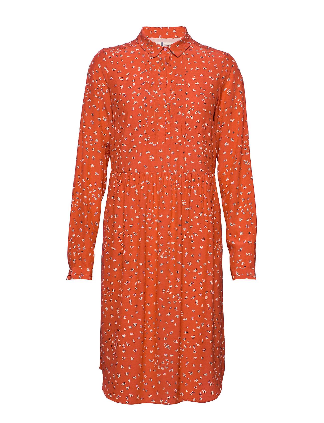 Noa Noa Dress long sleeve - PRINT RED