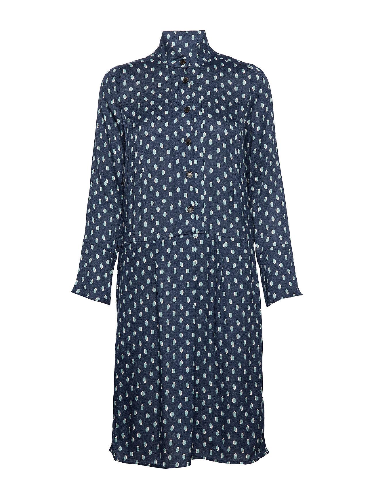 Noa Noa Dress long sleeve - PRINT BLUE