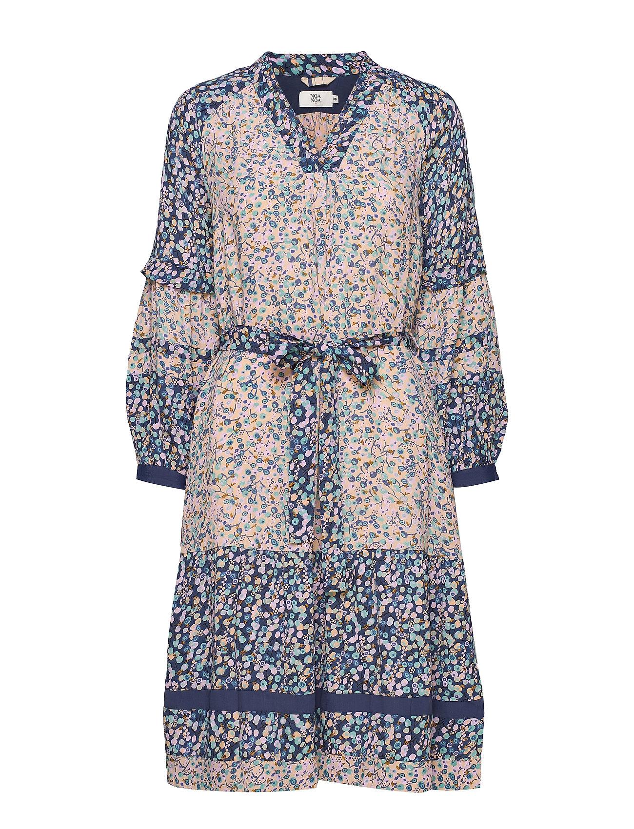 Noa Noa Dress long sleeve - PRINT PURPLE