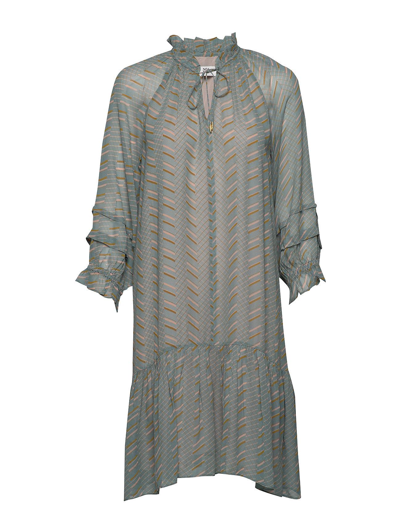 Noa Noa Dress long sleeve - PRINT GREEN