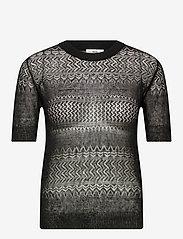 Noa Noa - Pullover - blouses med korte mouwen - black - 0