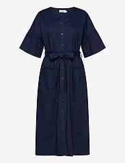 Noa Noa - Dress short sleeve - midi jurken - dress blues - 0