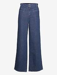 Noa Noa - Trousers - bukser med brede ben - denim dark blue - 0