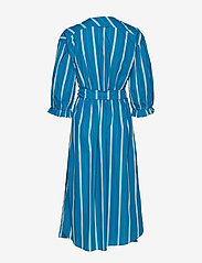 Noa Noa - Dress long sleeve - wikkel jurken - art blue - 2