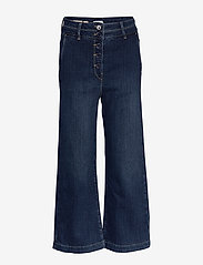 Noa Noa - Trousers - broeken met wijde pijpen - denim dark blue - 0