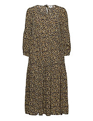 Dress long sleeve - PRINT YELLOW