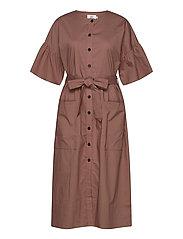 Dress short sleeve - COGNAC