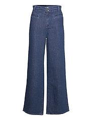 Trousers - DENIM DARK BLUE