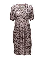 Dress short sleeve - PRINT PURPLE