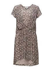 Dress short sleeve - PRINT GREY